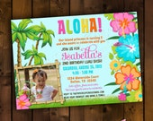Printable Invitation Design - Splish Splash Luau Bash Collection - DIY Printables by The Paper Cupcake