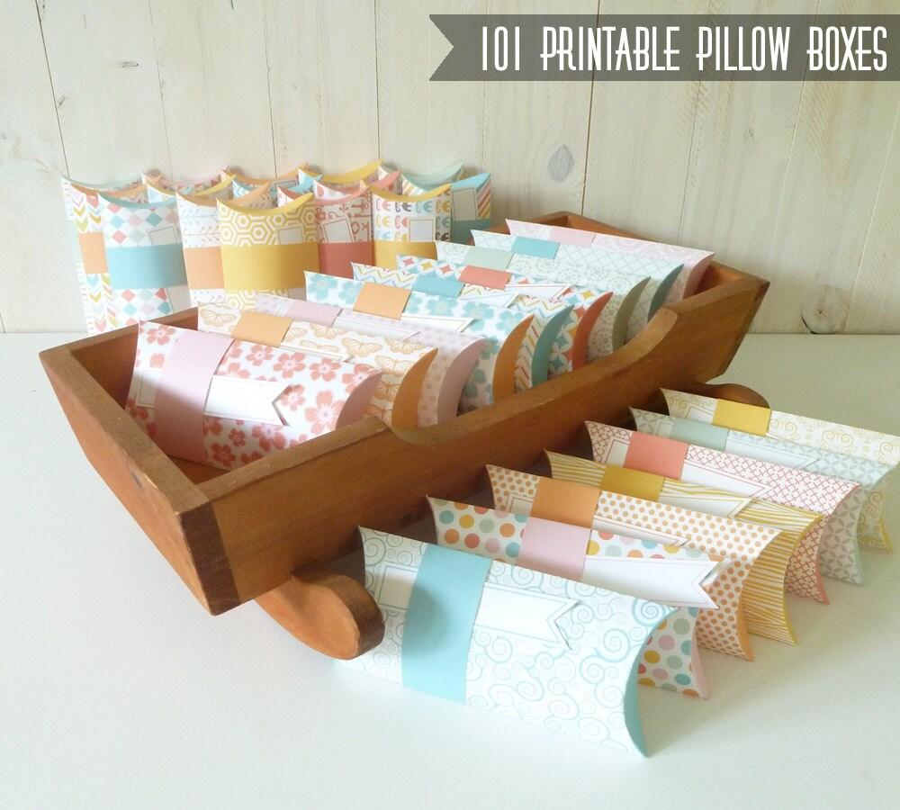 101 pillow box printables diy pillow box printable templates