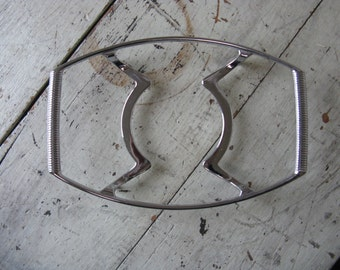pyrex trivet corning ware bowl trivet chrome metal server mid century dining 10 inches