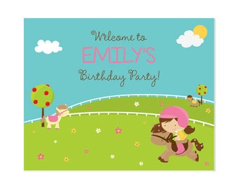 50% Off Sale! - PRINTABLE Pony Party Welcome Sign