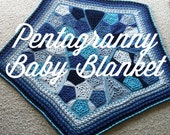 US Terms Pentagranny Baby Blanket  PDF Crochet Pattern