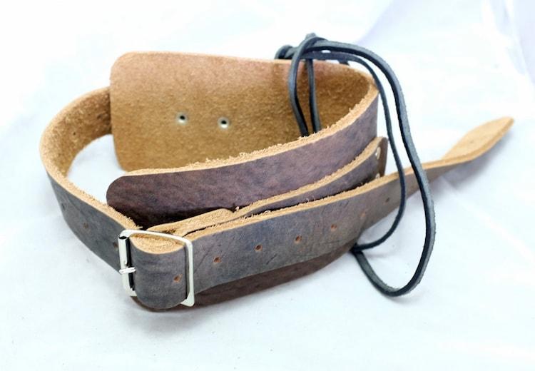 leather garter belt brown steunk burning by vontoon