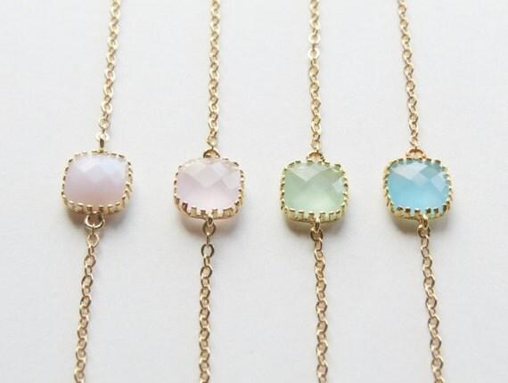 Personalized Bracelets, Choose your color-Opal, Pink, Seafoam & Ocean Blue connectors, bridesmaids bracelets,layering
