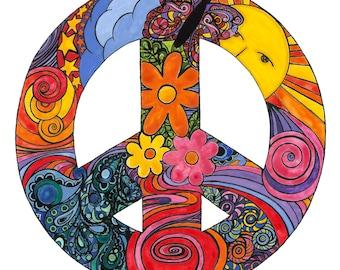 PEACE SIGN Print 12X12