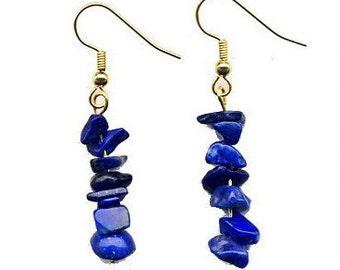 Luxurious Lapis Lazuli Earrings; Gorgeous Deep Blue Stone Worn by Cleopatra