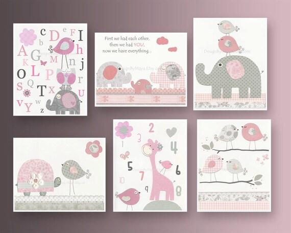 Etsy Girl Nursery Wall Decor : Items similar to baby girl nursery wall art