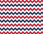 Riley Blake Fabric - Half Yard of Small Chevron Holiday Colors in Patriotic