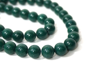 Mountain Jade Beads, 10mm Round, Green Candy Jade, Full & Half Strands Available  (897S)