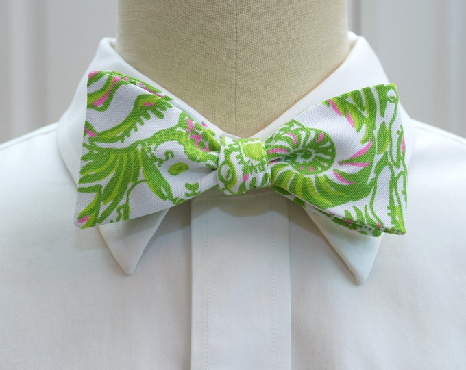 Kappa Delta Bow Tie, lilly sorority print, sorority sweetheart bow tie, licensed sorority KD print, KD formals bow tie, self-tie bow tie