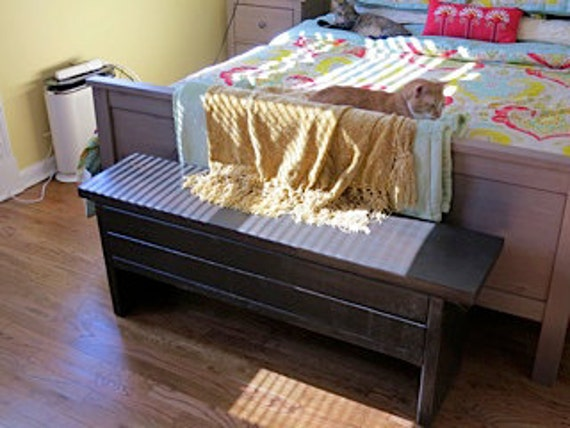 3 Foot Narrow Trunk Storage Bench By Modernrust On Etsy