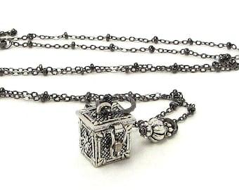 Wish Box Necklace / Prayer Box Jewelry / Prayer Box Necklace / Inspirational Jewelry / Inspirational Necklace / Prayer Necklace