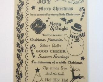 Rub On 7 Christmas