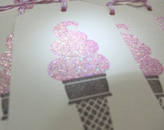 Ice Cream Bling - Ice Cream Cone Gift Tags (8)