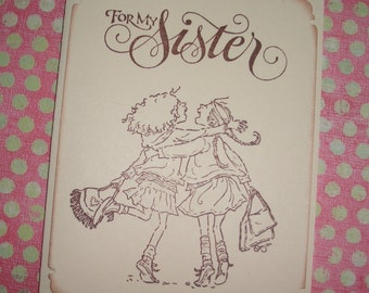 Sister Card - Handmade - For My Sister - With envelope and sticker seal