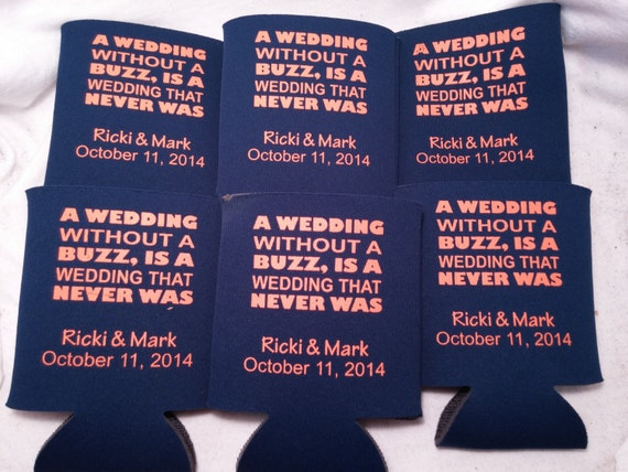 Wedding Can Cooler Sayings Favors Screen By Odysseycustomdesigns