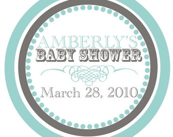 Baby Shower - stickers - hostess - shower - girl - boy - labels - invitations