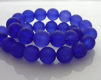 Vintage purple round lucite beads 6mm
