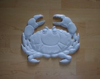 Cast Iron Happy Crab Stepping Stone - Beach Garden Decor