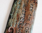 Bible Verse Magnet - Seek the Lord and His Strength