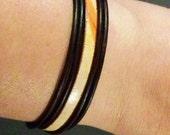 Leather Bracelet, Women's Leather Bracelet, Leather Wrist Bracelet, Stacking Bracelet, Brown Leather Bracelet, , Multicolor Bracelet, Gift