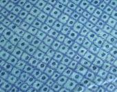 Aqua Blue Diamond Textrued Print Clotton Flannel 2 Yards