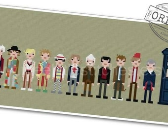 The Doctors - The *Original* Pixel People - PDF Cross-stitch Pattern - INSTANT DOWNLOAD