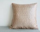 Champagne Metallic Sequin Pillow Cover , Holiday Decor , Throw Pillow , Decorative Pillow , Glitter Pillow , Sparkle Pillow