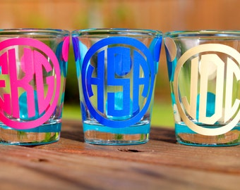 Personalized - Monogrammed Shot Glass - Bridesmaid Gift