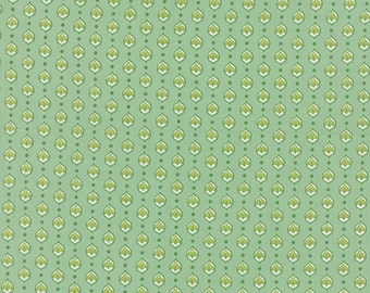 Pedal Pushers - Cameo Buds in Grass by Lauren + Jessi Jung for Moda Fabrics