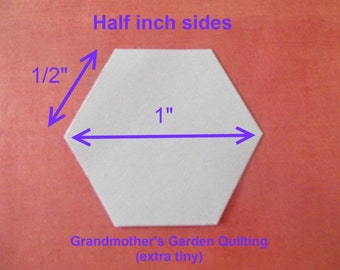 500 Paper Hexagon Templates for Patchwork 1/2  inch Sides