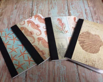 Sea Life Pocket Journal Set of 4