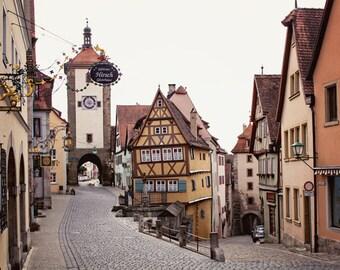 "Rothenburg Germany Photography - Europe Architecture Photography - Travel Home Decor - Fine Art Photo - ""The Heart of Rothenburg"""