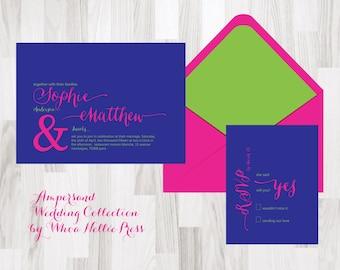 Modern Ampersand Wedding Invitations