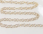2FT (4x4.5mm) 14K Gold Filled  round cable chain