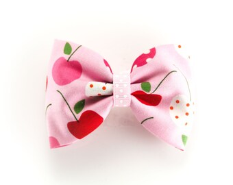 Kawaii Pink Cherry Bow Hair Bow Clip