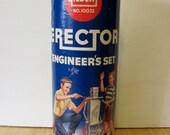 Vintage 1959 Metal Gilbert Erector Engineer's Set #10032