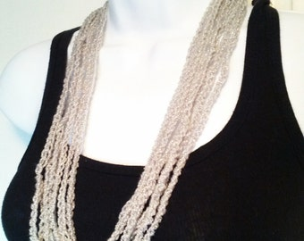 Sparkly Crocheted Chain Necklace