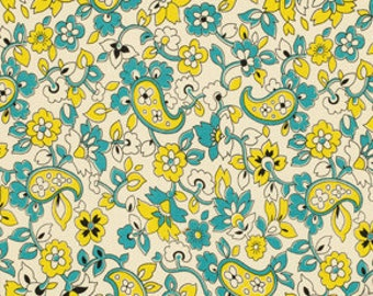 SALE-One Yard from Denyse Schmidt's Chicopee Collection for FreeSpirit- Paisley in Lime