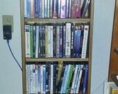 Media Center, Oak Wood with bead board back and adjustable shelves