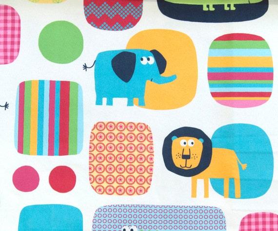 Ivory Animal Safari Printed Sheer Curtain Fabric Drapery Window ...
