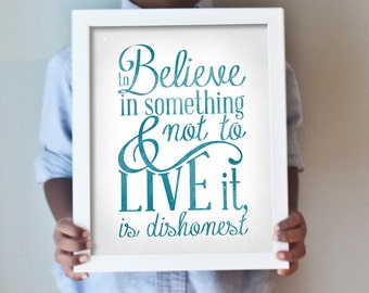 8x10 Believe and Live print