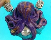 Super Cute Polymer Octopus sea pendent *Free Shipping