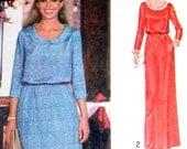 UNCUT Vintage Dress Sewing Pattern Simplicity 8954 Bust 38 Retro 70s Flair