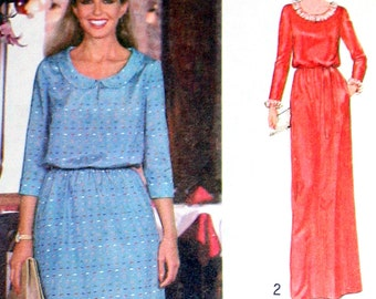 UNCUT Vintage Dress Sewing Pattern Simplicity 8954 Bust 38 Retro 70s Flair