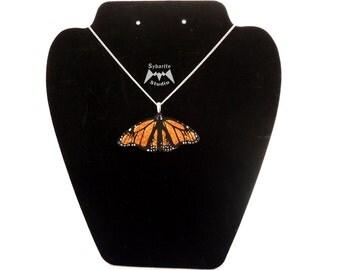 Elegant Orange Butterfly Small Pendant