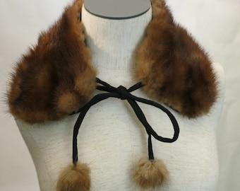 Vintage Mink Collar w/ Ties