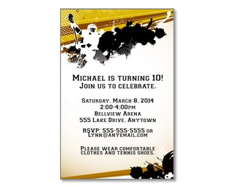 Lacrosse Birthday Invitation - You Print