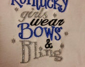 Kentucky Girl Embroidered Shirt