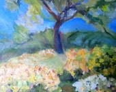Spring tree - original oil painting on canvas - 24 x 30 inches