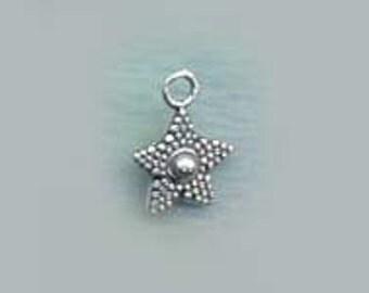 Sterling Silver STAR Charm Pentagram Celestial Jewelry  CELE044